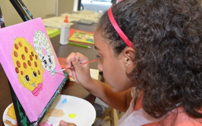 Canvas Painting for Kids for less than $15 at Art Fun Studio in Brooklyn.